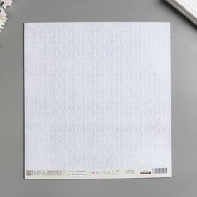 """Лист бумаги для скрапбукинга """"Дневники Франчески"""" 30х30 см, 190 гр/м2"""