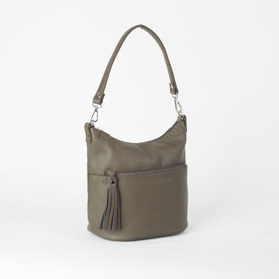 Сумка женская, отдел на молнии, наружный карман, цвет коричневый - Фото 1