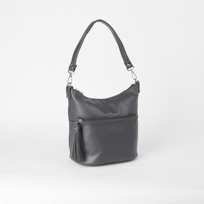 Сумка женская, отдел на молнии, наружный карман, цвет серый - Фото 1