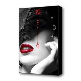 Часы настенные, серия: Люди, 'Под вуалью', 1 АА, плавный ход, 57х35х4 см Ош