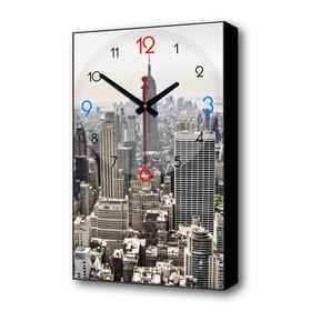Часы настенные, серия: Город, 'Мегаполис', 1 АА, плавный ход, 37х60 см Ош
