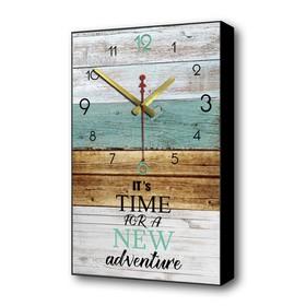Часы настенные 'Пришло время новых открытий', 1 АА, плавный ход, 57х35х4 см Ош