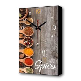 Часы настенные, серия: Кухня, 'Пряности', 1 АА, плавный ход, 57х35х4 см Ош