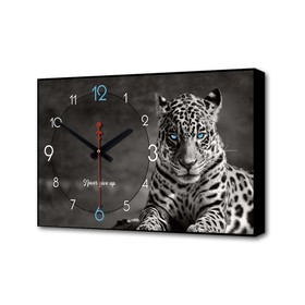 Часы настенные, серия: Природа, 'Леопард', 1 АА, плавный ход, 57х35х4 см Ош