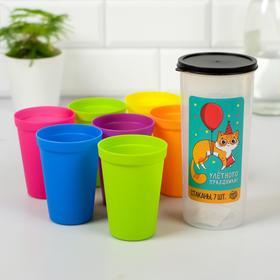 Набор пластиковых стаканчиков 'Улетного праздника', 7 шт Ош