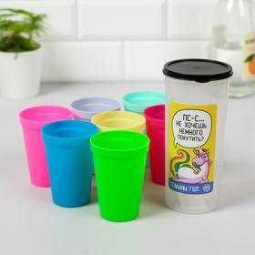 Набор пластиковых стаканчиков 'Псс..', 7 шт Ош