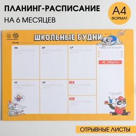 Планинг-расписание 'Школьные будни' Ош