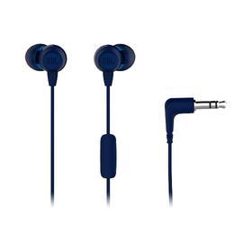 Наушники JBL C50HI, вакуумные, микрофон, проводные, 1.2м, синие