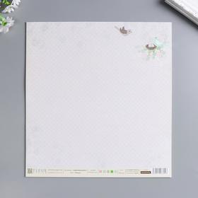 "Лист бумаги для скрапбукинга ""Гнездо"" 30х30 см, 190 гр/м2"
