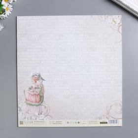 "Лист бумаги для скрапбукинга ""Прогулка Луизы"" 30х30 см, 190 гр/м2"