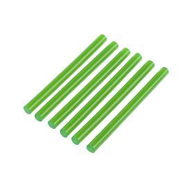 Клеевые стержни TUNDRA, 7 х 100 мм, зеленые, 6 шт.
