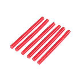 Клеевые стержни TUNDRA, 7 х 100 мм, красные, 6 шт.