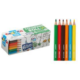 Набор д/рисования CARIOCA Mini Coloring Roll JUNGLE, 6 карандашей + 1 раскраска 85 x 10см 42