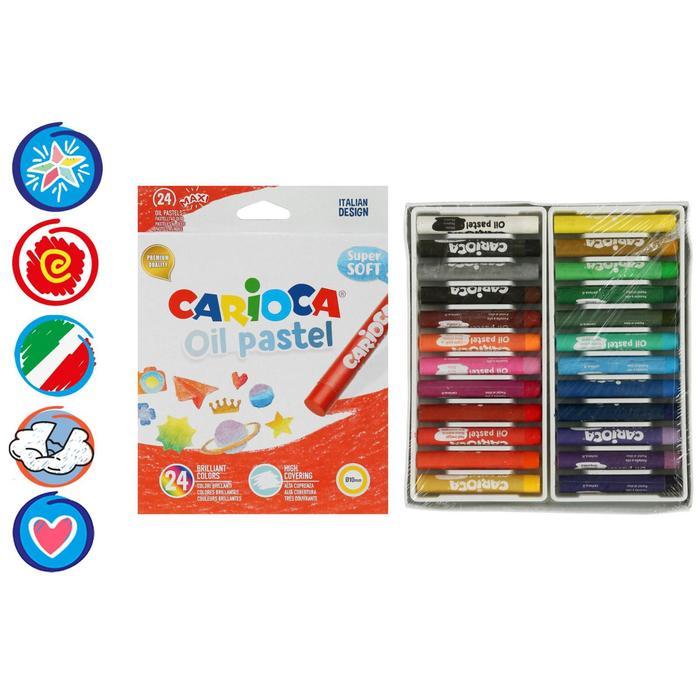 Мелки восковые Maxi 24цв Carioca Oil Pastel 43278