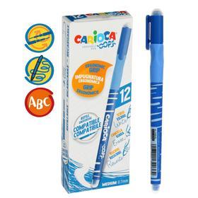 """Ручка гелевая """"пиши-стирай"""" Carioca """"OOPS"""", синие чернила, резиновый держатель, узел 0,7 мм"""