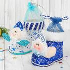 Конфетница «Сапожок», снегурочка, цвета МИКС
