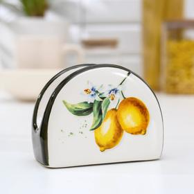 Салфетница Доляна «Лимон»,9,5×7×4,3 см