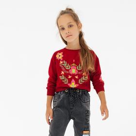 Свитшот для девочки, цвет бордовый, рост 92 см Ош
