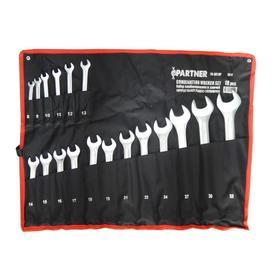 Набор комбинированных ключей Partner PA-3018P, 18 предметов, 8-19, 21, 22, 24, 27, 30, 32мм   526356
