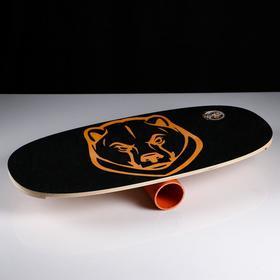 Доска балансировочная балансборд 'Медведь' D ролика 9 см, 75×35х1,5 см Ош
