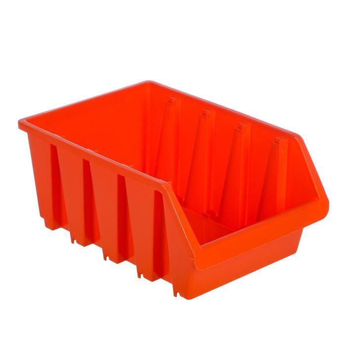 Лоток для метизов 4, 350х235х155 мм, оранжевый