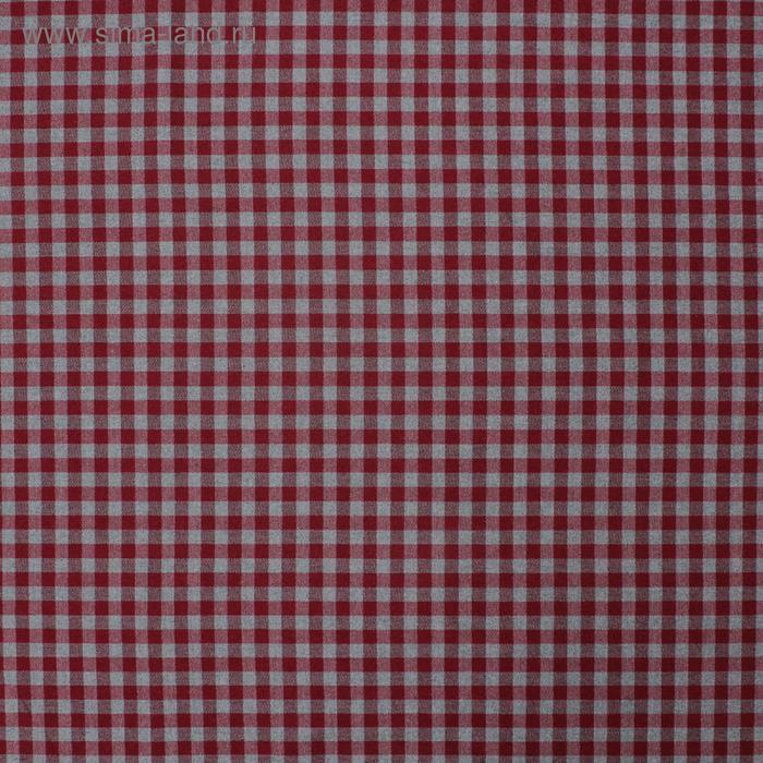 Ткань костюмная «Шотландка», вискоза, ширина 150 см, цвет серый, бордовый