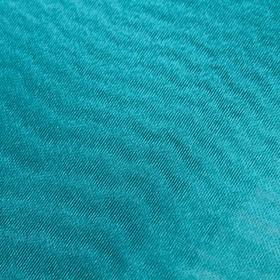 Ткань плательная, органза, гладкокрашенная, ширина 150 см, цвет морская волна