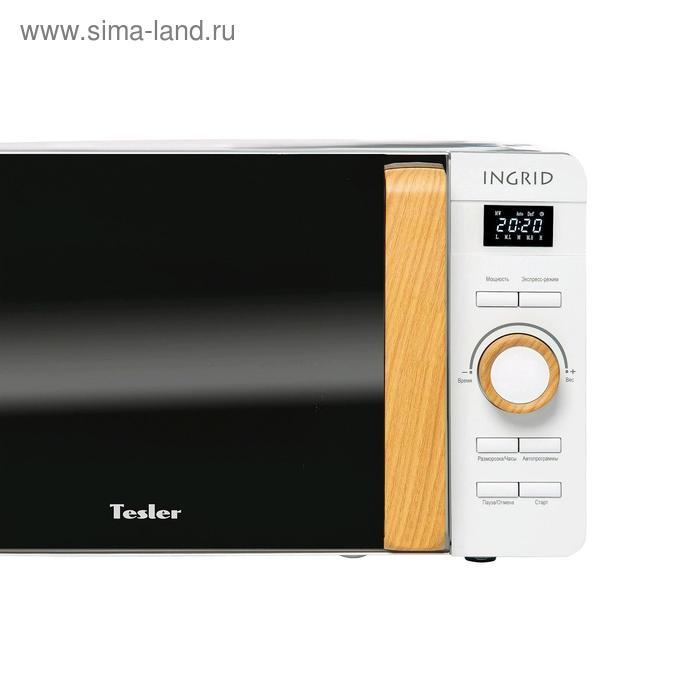 Микроволновая печь Tesler ME-2044 WHITE, 700 Вт, 20 л, 8 программ, таймер, белая