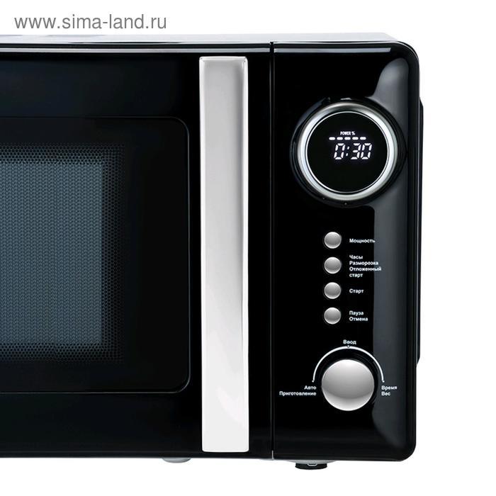 Микроволновая печь Tesler ME-2055 BLACK, 700 Вт, 20 л, 5 программ, таймер, черная