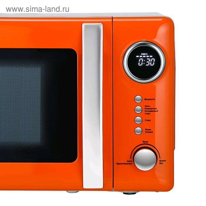 Микроволновая печь Tesler ME-2055 ORANGE, 700 Вт, 20 л, 5 программ, таймер, оранжевая