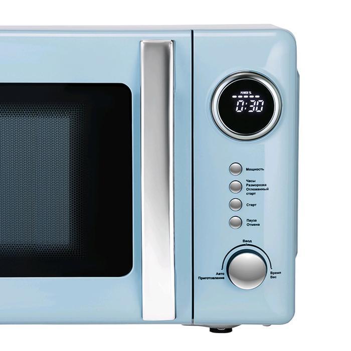 Микроволновая печь Tesler ME-2055 SKY BLUE, 700 Вт, 20 л, 5 программ, таймер, голубая