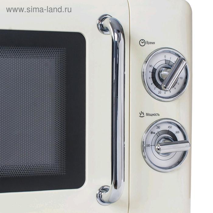 Микроволновая печь Tesler MM-2045 BEIGE, 700 Вт, 20 л, 6 программ, таймер, бежевая