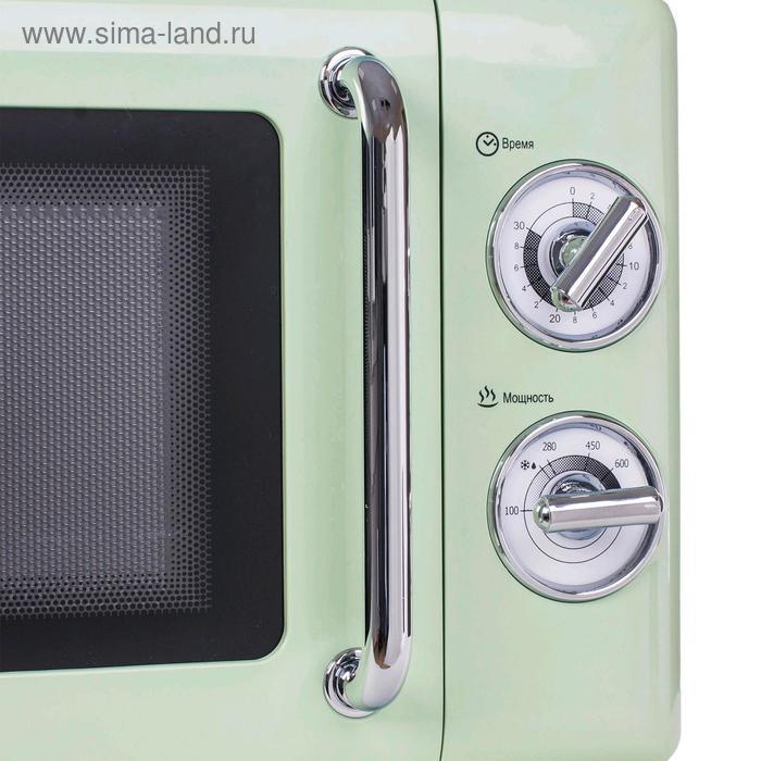 Микроволновая печь Tesler MM-2045 GREEN, 700 Вт, 20 л, 6 программ, таймер, зеленая