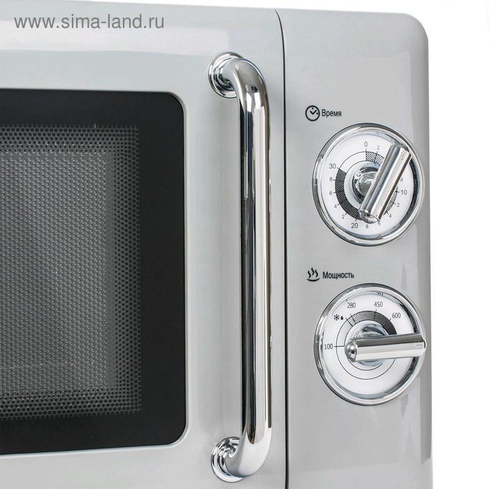 Микроволновая печь Tesler MM-2045 GREY, 700 Вт, 20 л, 6 программ, таймер, серая