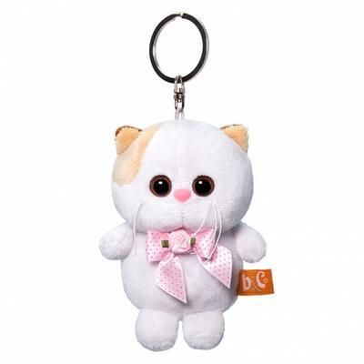 Мягкая игрушка-брелок «Кошечка Ли Ли с розовым бантиком», 12 см - Фото 1