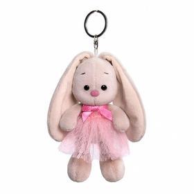 Мягкая игрушка-брелок «Зайка Ми в розовой юбке и с бантиком», 14 см