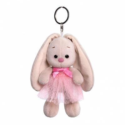 Мягкая игрушка-брелок «Зайка Ми в розовой юбке и с бантиком», 14 см - Фото 1