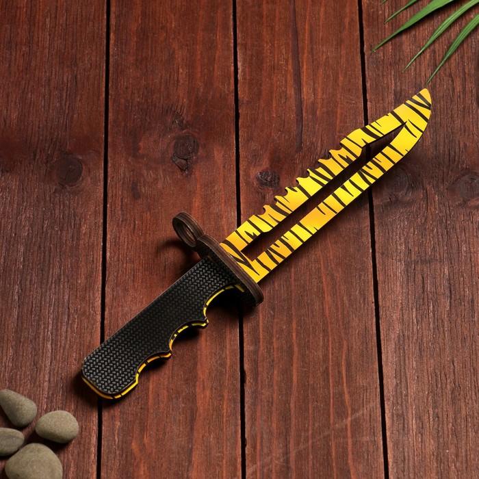 Сувенирное оружие из дерева «Штык нож», жёлтый леопард