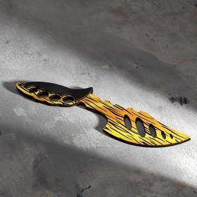 Сувенир деревянный «Топор», жёлтый леопард Ош