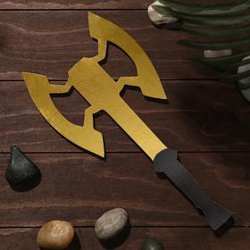 Сувенир деревянный «Топор. Секира- Лабрис», жёлтое лезвие Ош