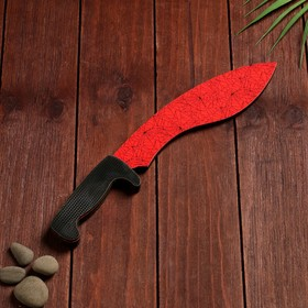 Сувенир деревянный «Мачете- кукри», красный мрамор Ош