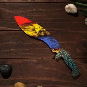Сувенир деревянный «Мачете- кукри», сиренево- жёлтое лезвие Ош