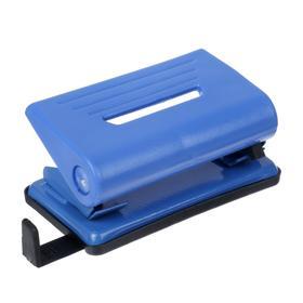 Дырокол на 10 листов, пластиковый, Attomex с линейкой, синий Ош