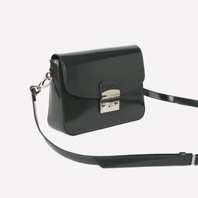 Сумка женская, отдел на молнии, наружный карман, регулируемый ремень, цвет изумрудный