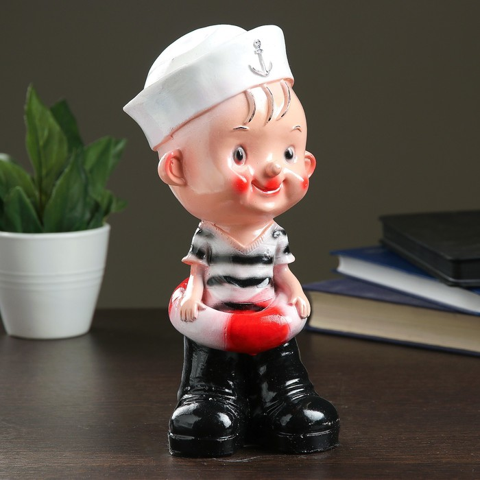 Копилка Мальчик-морячок 9х10х25см