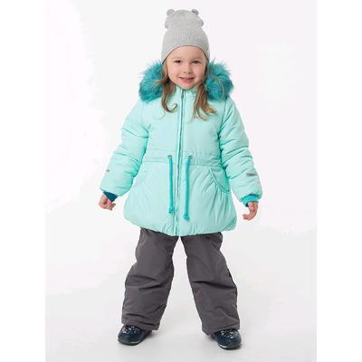 Комплект из полукомбинезона и куртки для девочек «Бэлла», рост 104 см, цвет мятный