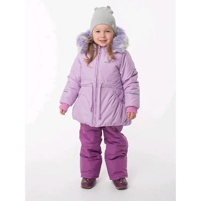 Комплект из полукомбинезона и куртки для девочек «Бэлла», рост 98 см, цвет сиреневый