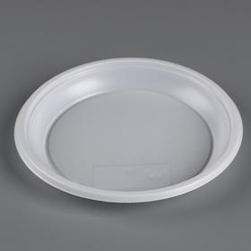 Тарелка одноразовая d 167 мм 'Белая' Ош