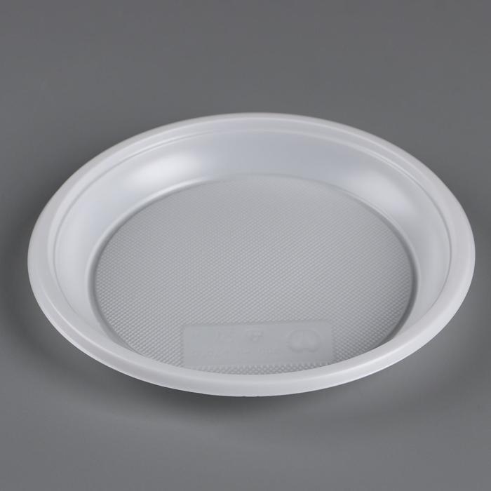 Тарелка одноразовая d 167 мм Белая