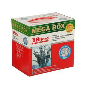 Соль крупнокристаллическая Filtero для посудомоечных машин, 3 кг